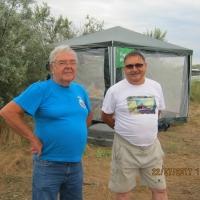 Слёт членов российского клуба радиотелеграфистов (RCWC), ст.Благовещенская около Анапы, 2017г. Александр R6AS и Николай UA6AH.