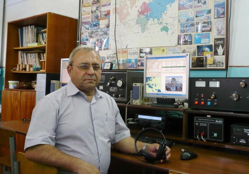 RX6CA Александр Соломко, управляющий оператор молодёжной радиостанции R6CF, член Совета РО СРР, председатель Совета МО СРР по Брюховецкому району
